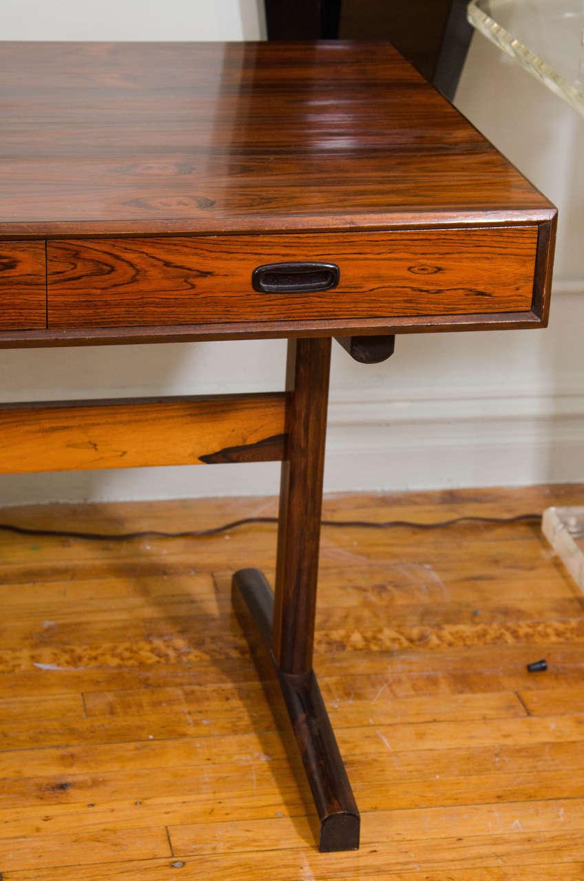 danish modern brazilian rosewood trestle desk 3