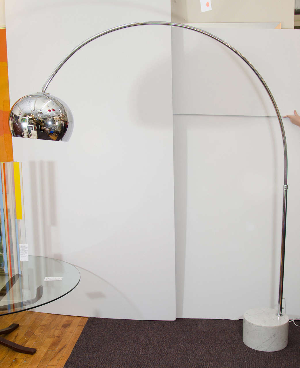 Midcentury Arching Floor Lamp In The Manner Of Arco At 1stdibs