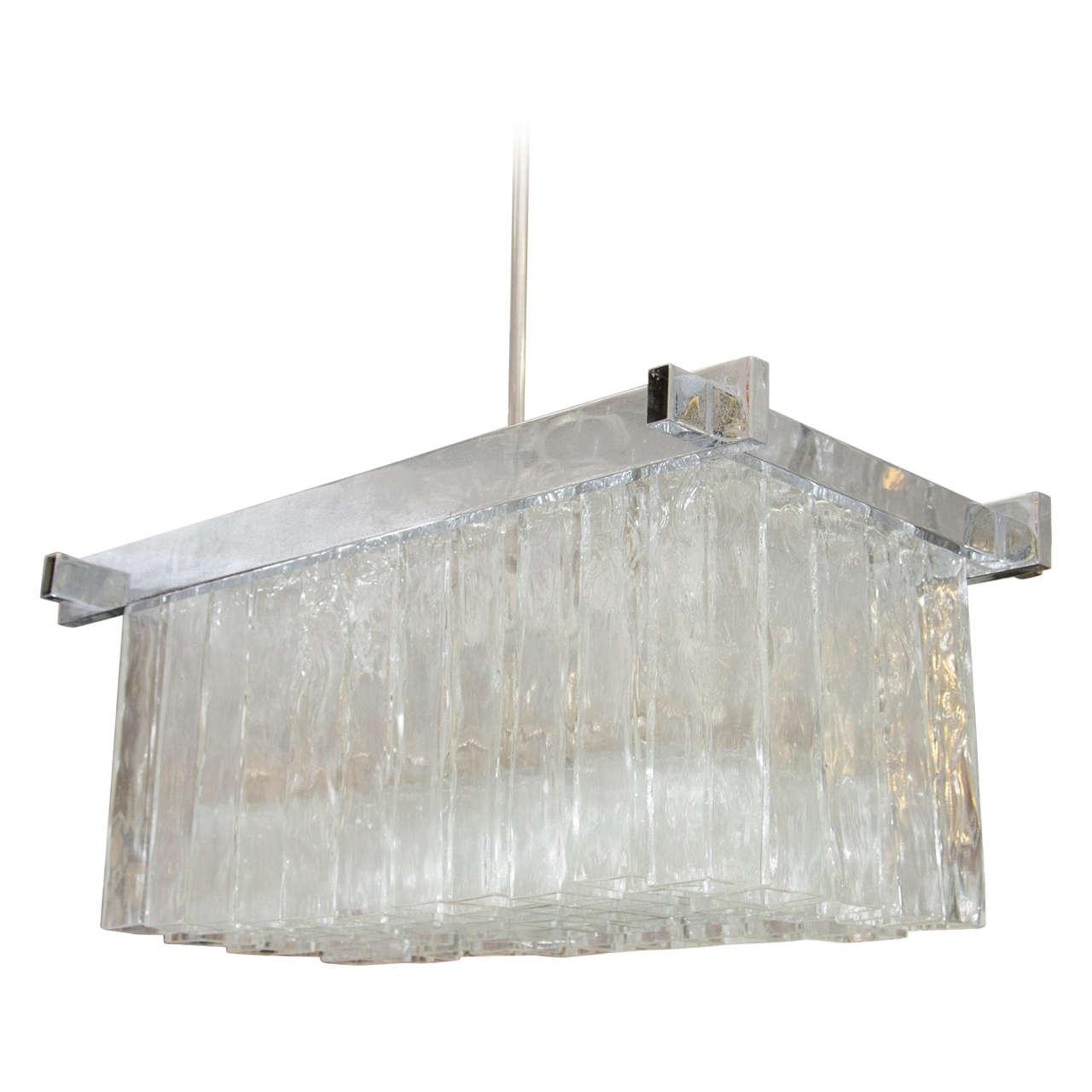 Monumental camer murano glass chandelier with square tubular monumental camer murano glass chandelier with square tubular pendants for sale at 1stdibs arubaitofo Choice Image
