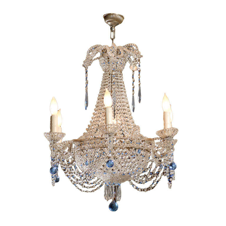 Vintage French Crystal Chandelier For Sale - Vintage French Crystal Chandelier For Sale At 1stdibs
