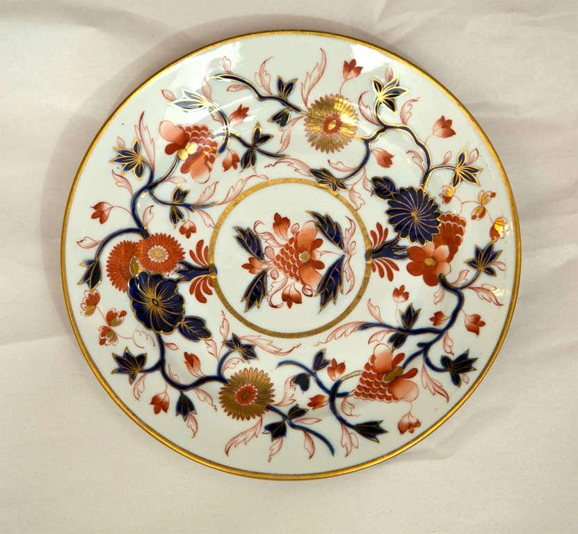 English Set of 8 Chamberlain Wercester Imari Dessert Plates* For Sale