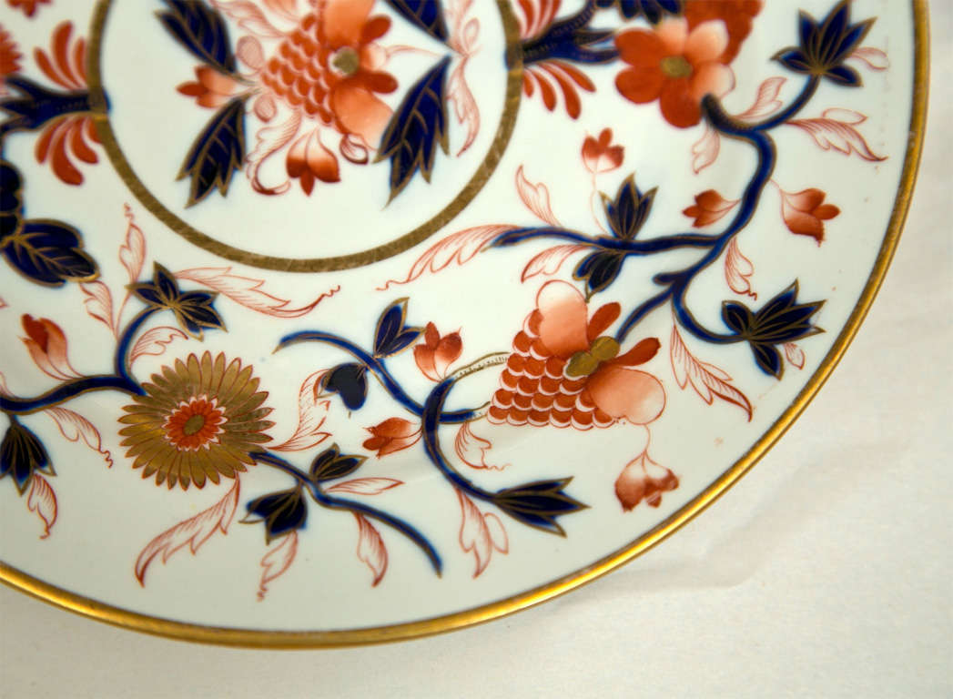 Set of 8 Chamberlain Wercester Imari Dessert Plates* In Excellent Condition For Sale In Stamford, CT