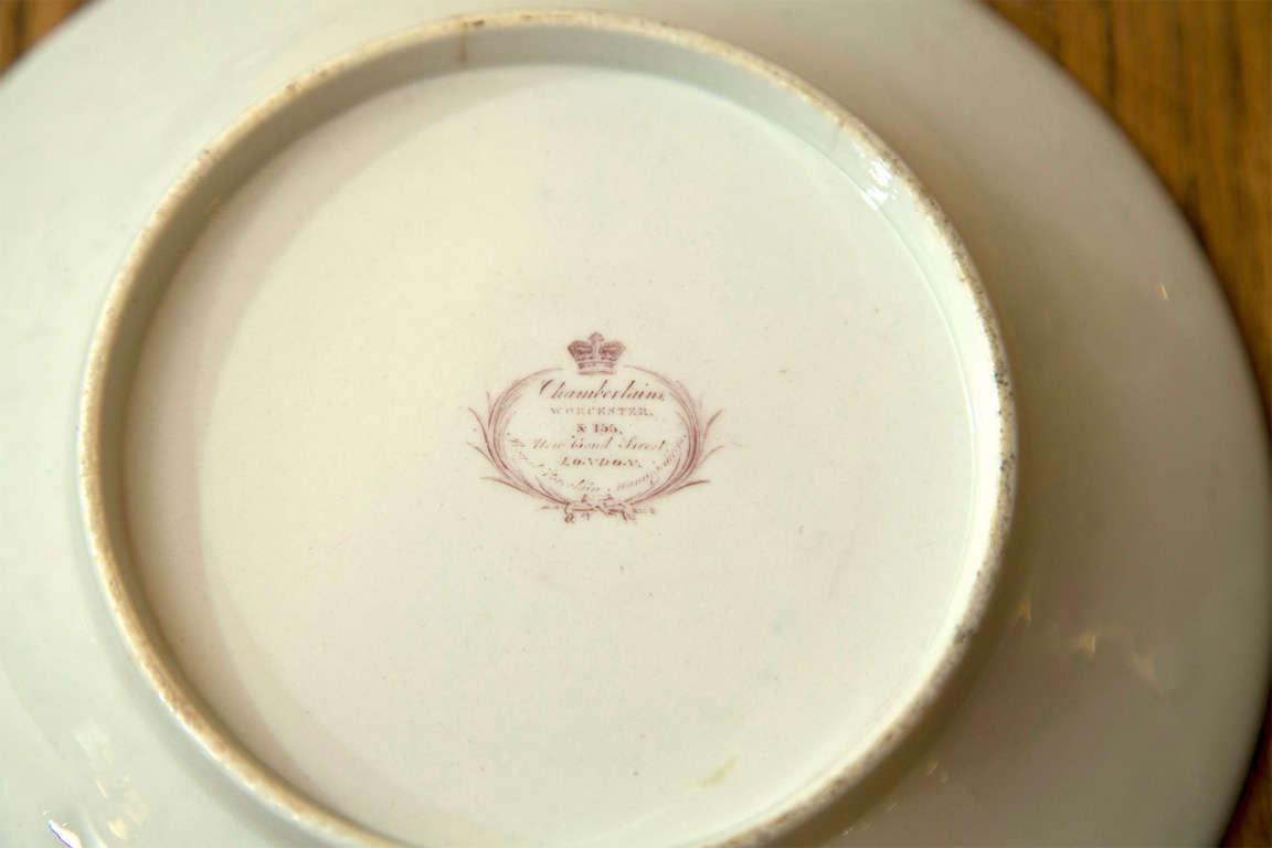 Porcelain Set of 8 Chamberlain Wercester Imari Dessert Plates* For Sale