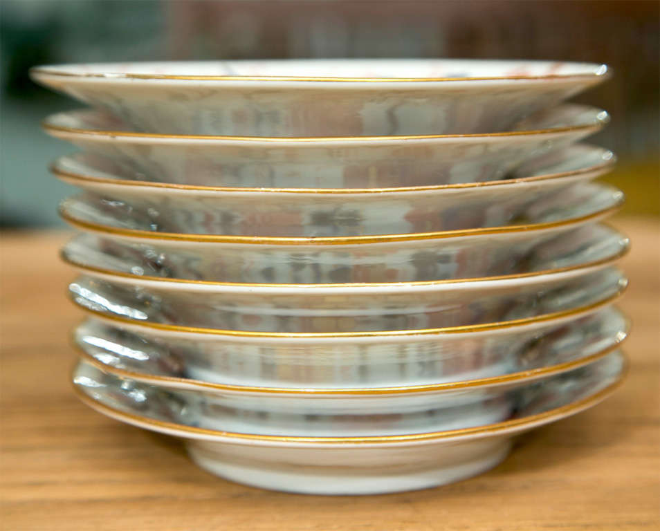Set of 8 Chamberlain Wercester Imari Dessert Plates* For Sale 1