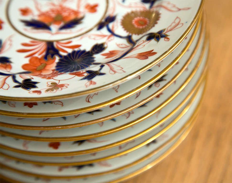 Set of 8 Chamberlain Wercester Imari Dessert Plates* For Sale 2