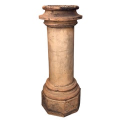 Striking Tall 19th Century Terracotta Chimney Pot