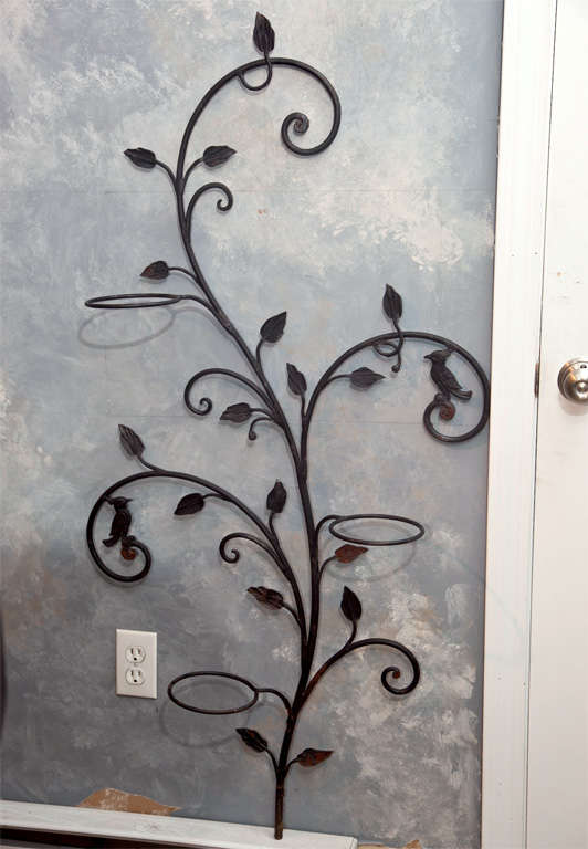 Decorative Wrought Iron Wall Planter Tree For We Love This Piece Its Sinuous Look Functionality And Great Size The
