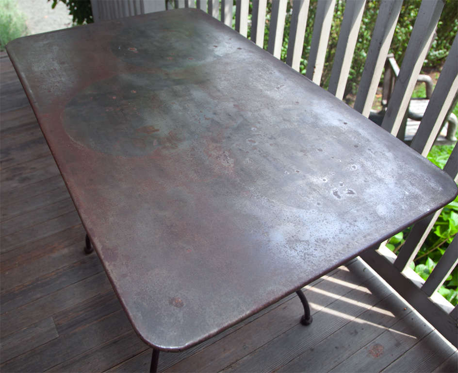Fabulous French Fer Forge Table at 1stdibs