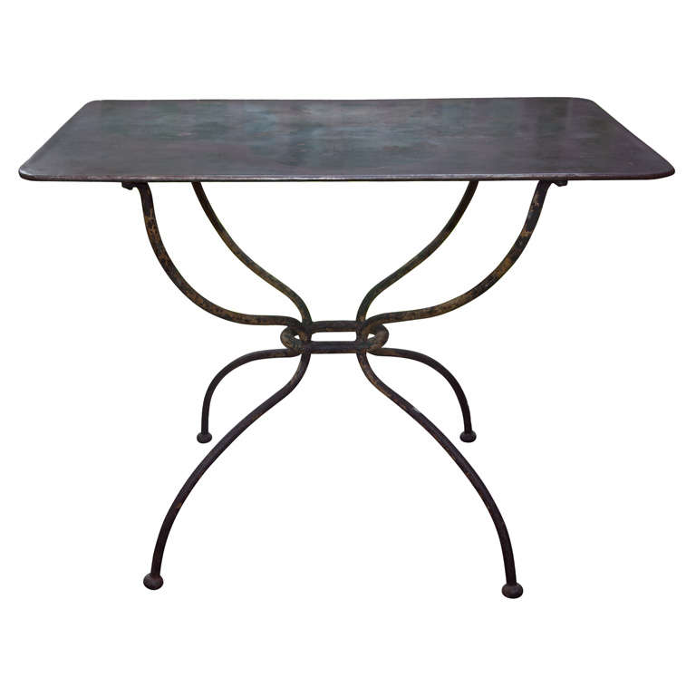 Fabulous french fer forge table at 1stdibs - Petite table fer forge ...
