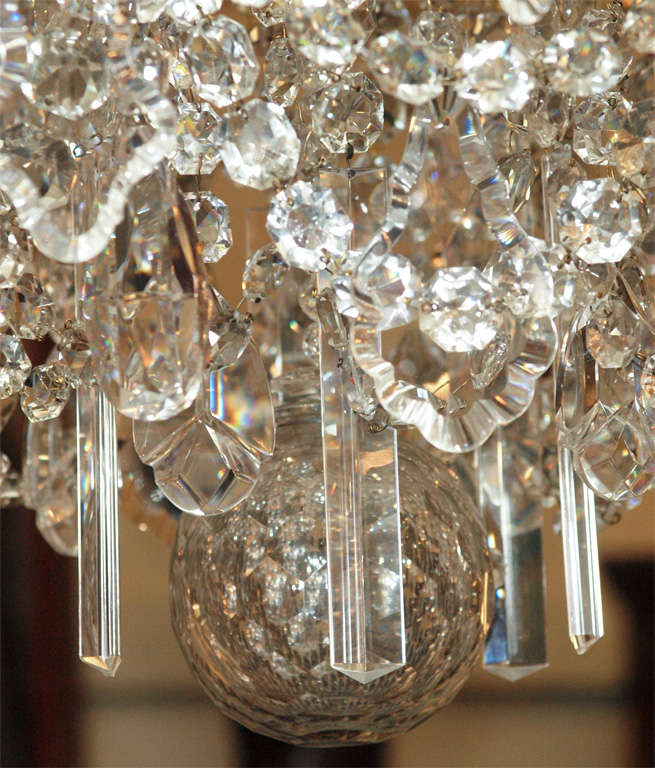 Antique French Bronze And Finest Baccarat Crystal