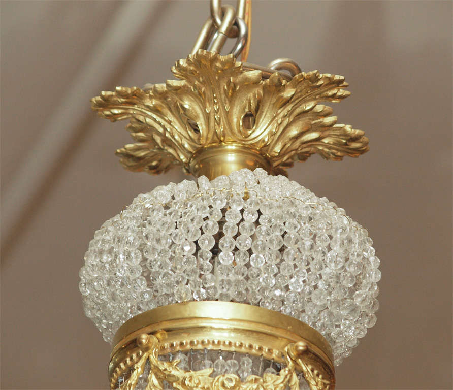 """Antique French """"Directoire"""" Domed Chandelier In Excellent Condition For Sale In New Orleans, LA"""