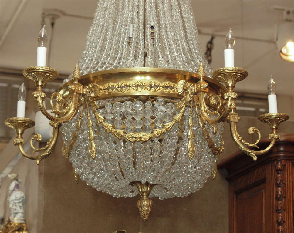 "Antique French ""Directoire"" Domed Chandelier 5"