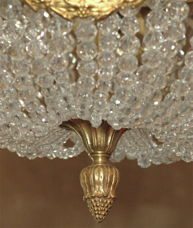 """Antique French """"Directoire"""" Domed Chandelier For Sale 2"""