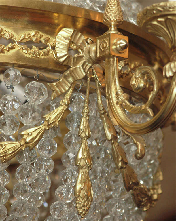 """Antique French """"Directoire"""" Domed Chandelier For Sale 4"""