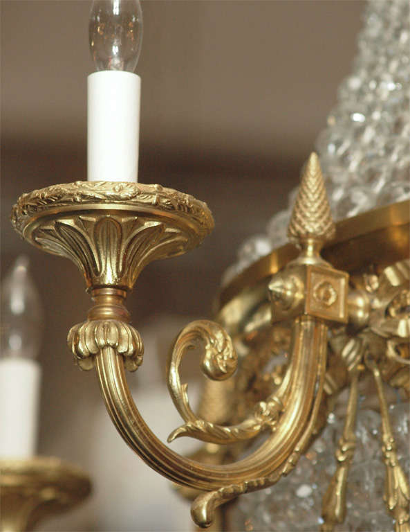 """Antique French """"Directoire"""" Domed Chandelier For Sale 5"""