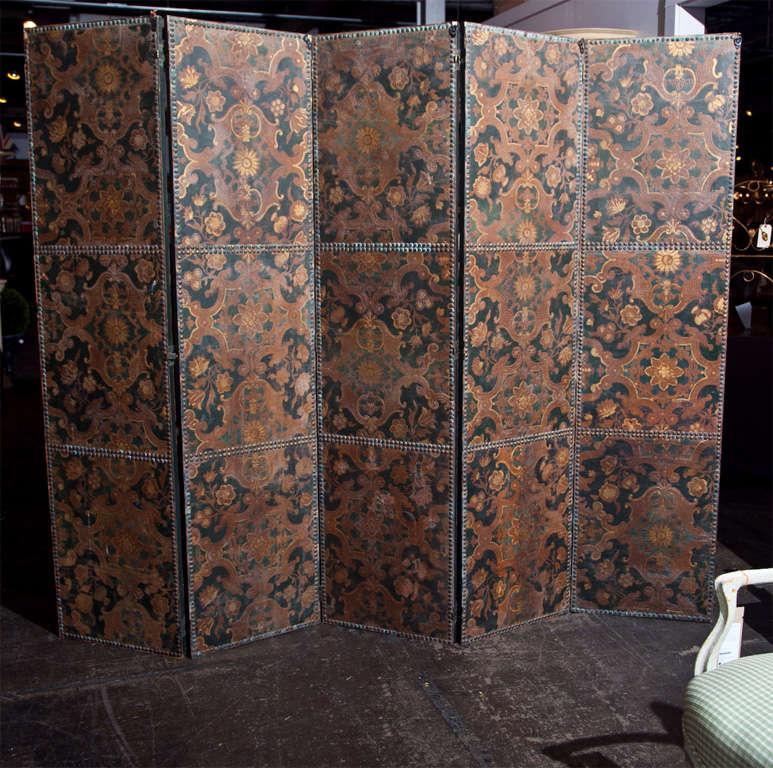 Spanish 5-panel screen, c. 1800 2
