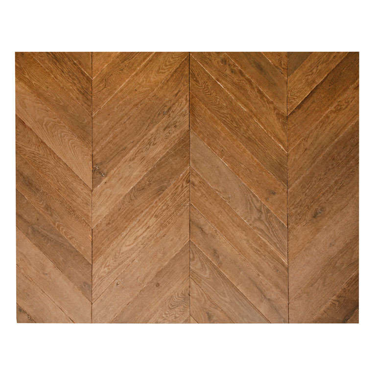 """French """"Hungarian point"""" oak floor, 20th century"""