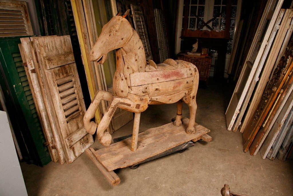 Antique wood carved horse at stdibs