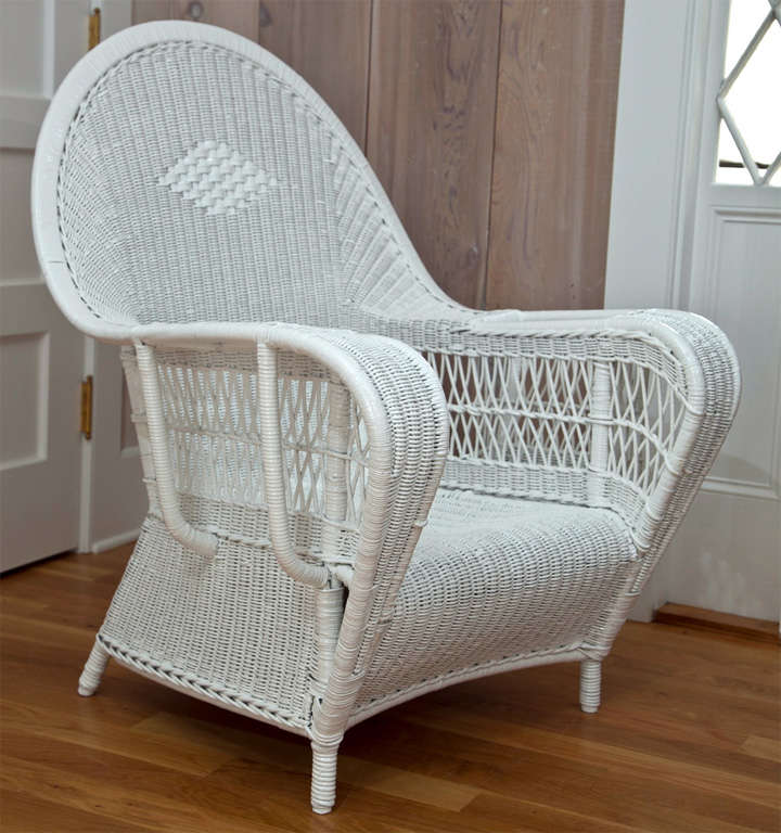 Antique Deco Wicker Chairs at 1stdibs