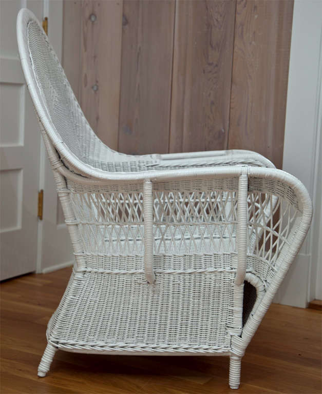 Antique Deco Wicker Chairs For Sale at 1stdibs