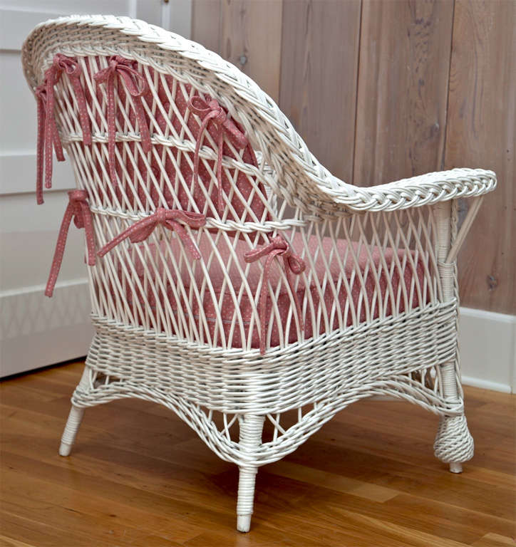 Antique Bar Harbor Wicker Chair For Sale At 1stdibs