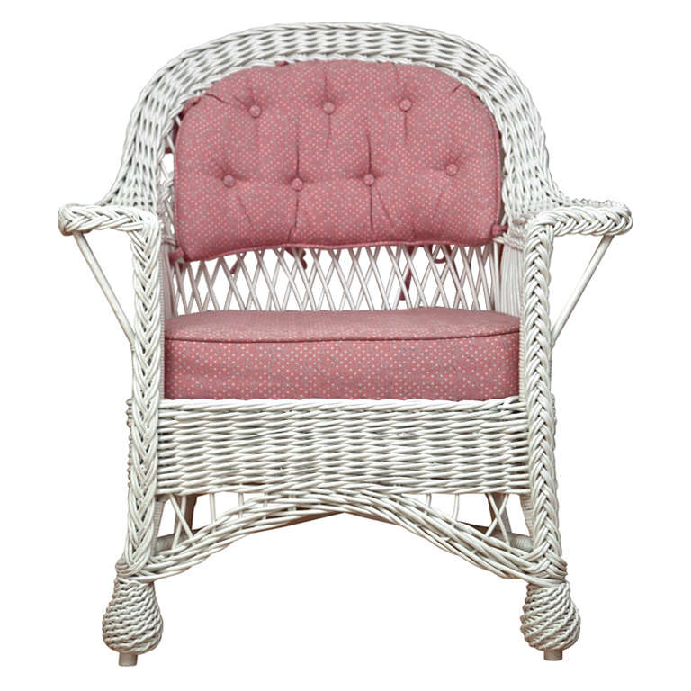 Antique Bar Harbor Wicker Chair At 1stdibs