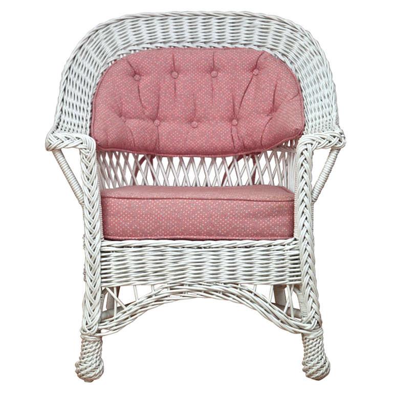 Heywood Wakefield Bar Harbor Wicker Chair For Sale