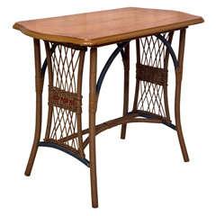 Fiber and oak table