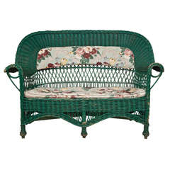 Antique Willow Settee