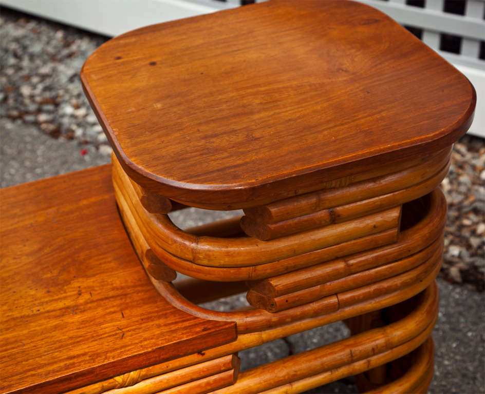 Rattan End Table In Good Condition For Sale In Old Saybrook, CT