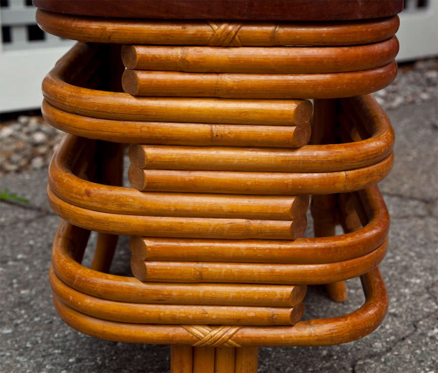 Rattan End Table For Sale 2