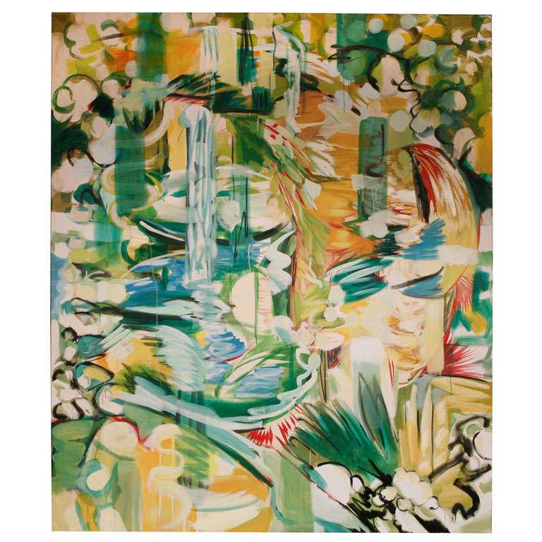 large oil on canvas titled Abundance