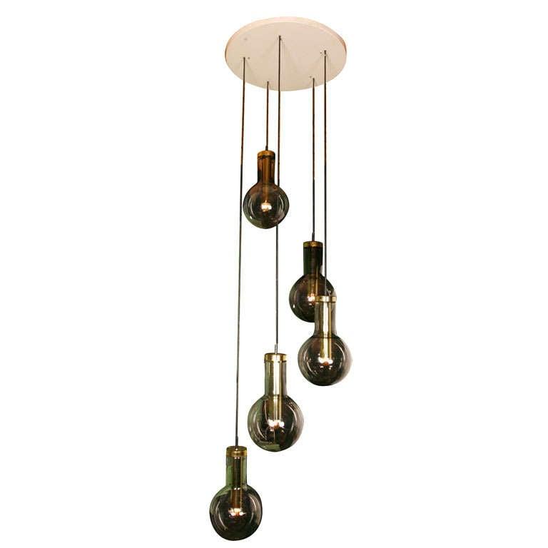 Huge Raak Ceiling Mount Cascade Lamp For Sale At 1stdibs