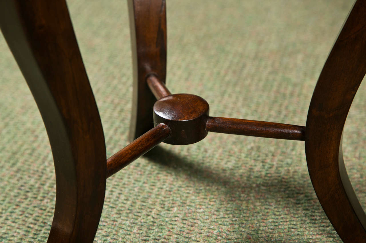 Mahogany Pair of Italian Neoclassical Stools For Sale