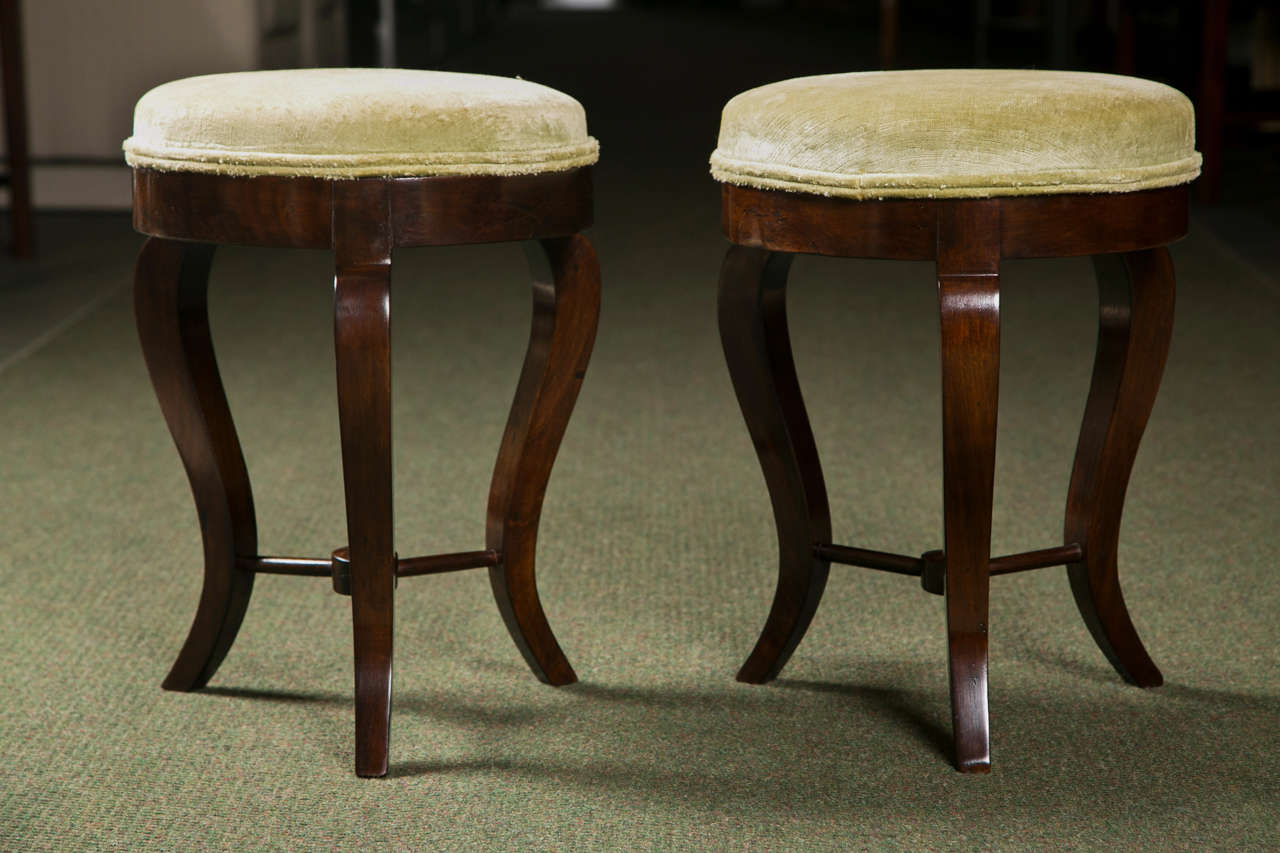 Pair of Italian Neoclassical Stools 2