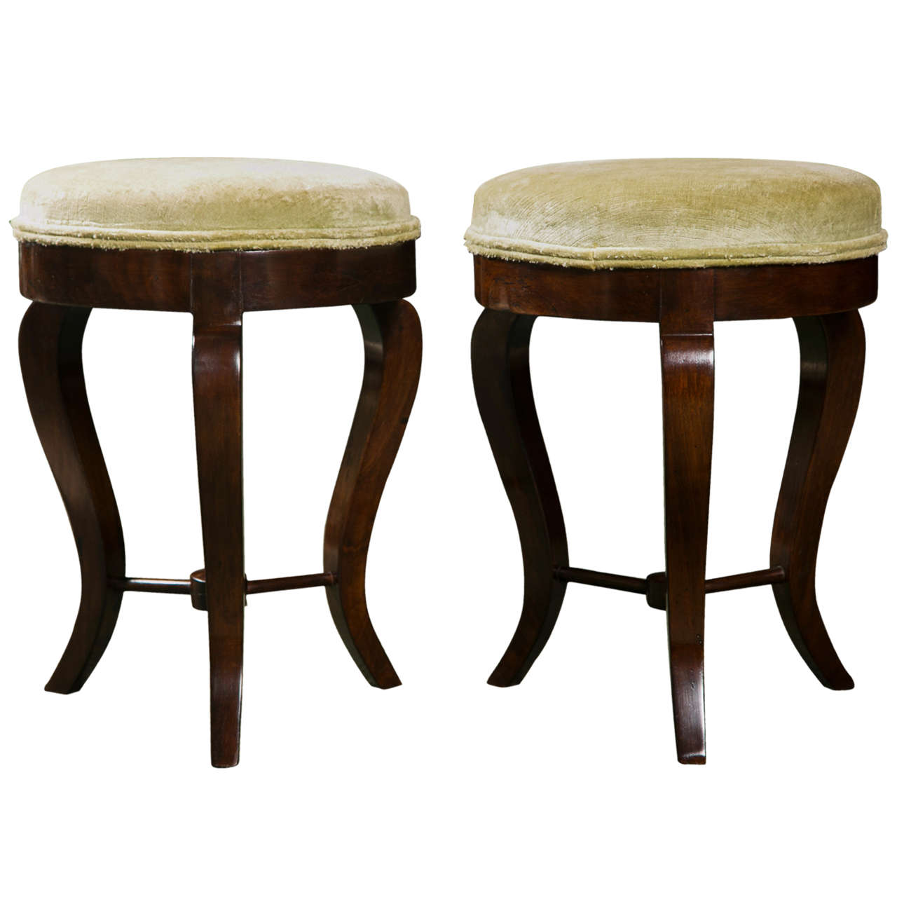 Pair of Italian Neoclassical Stools