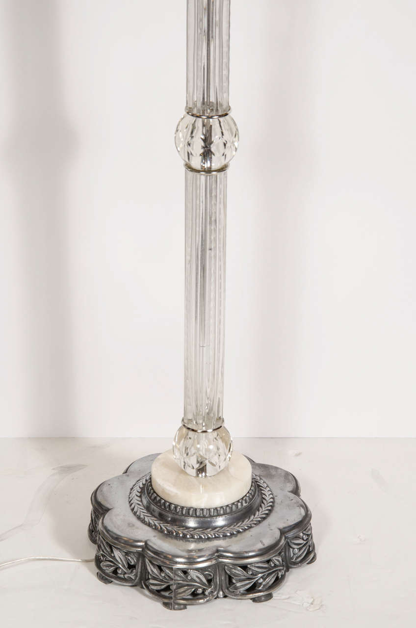 Elegant 1940s Hollywood Blown Glass Plume Torchiere At 1stdibs