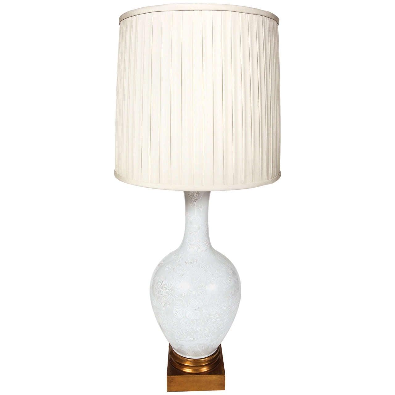 Celedon Urn Lamp