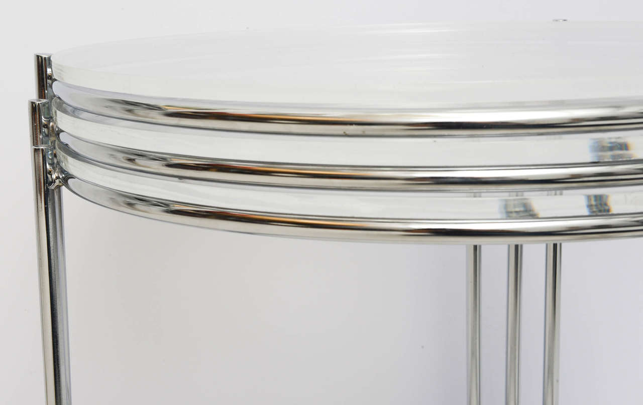 Set of Three Drum Shaped Nesting Tables 8