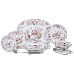 Antique Staffordshire Dinner Service