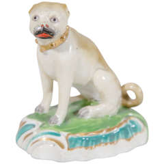 Antique Porcelain Pug Dog