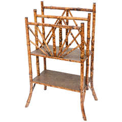 Superb19th Century English Bamboo Canterbury Rack