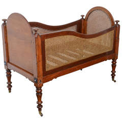 Rare 19th Century Mahogany Babies or Dolls Cradle