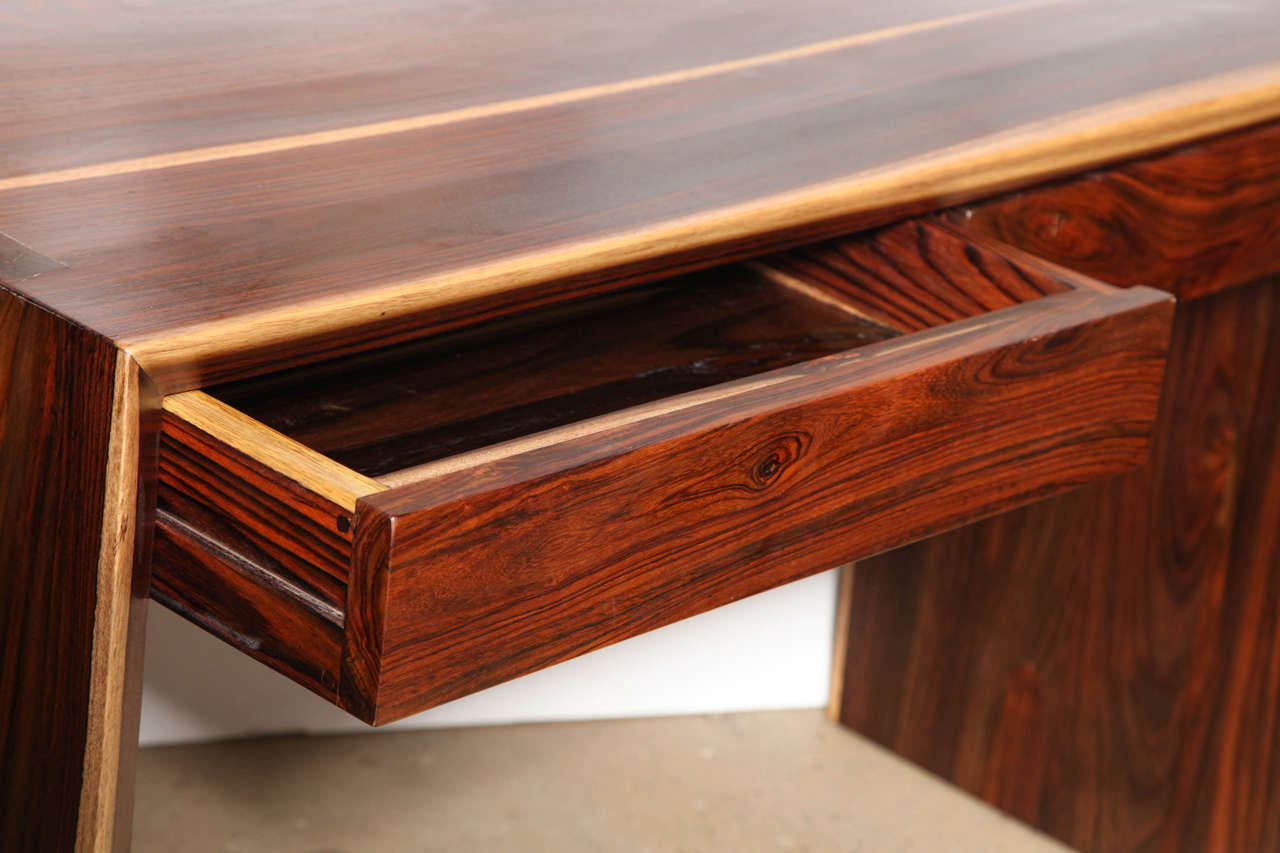 Craft Revival Cocobolo Desk At 1stdibs