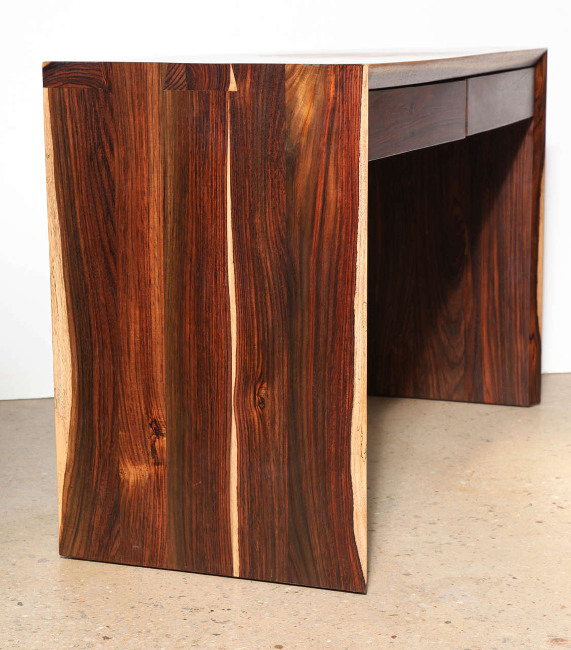 Craft Revival Hand Crafted Cocobolo Wood Desk For Sale 1