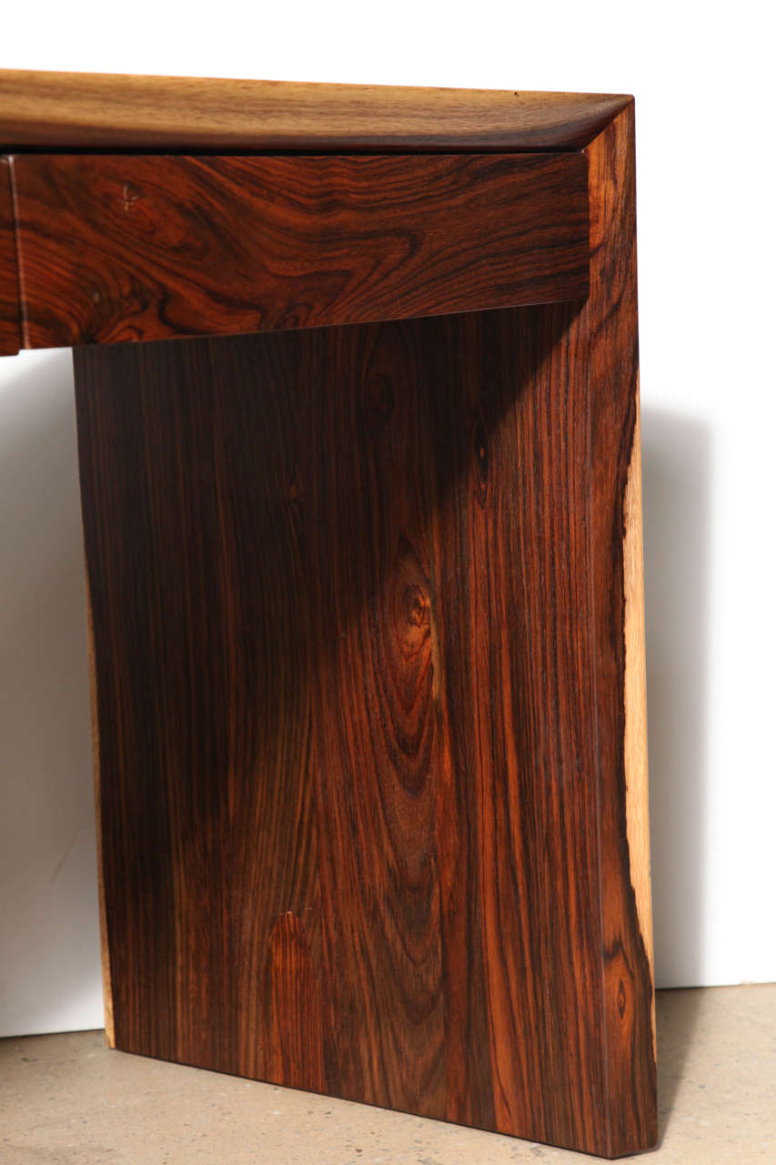 Craft Revival Hand Crafted Cocobolo Wood Desk At 1stdibs