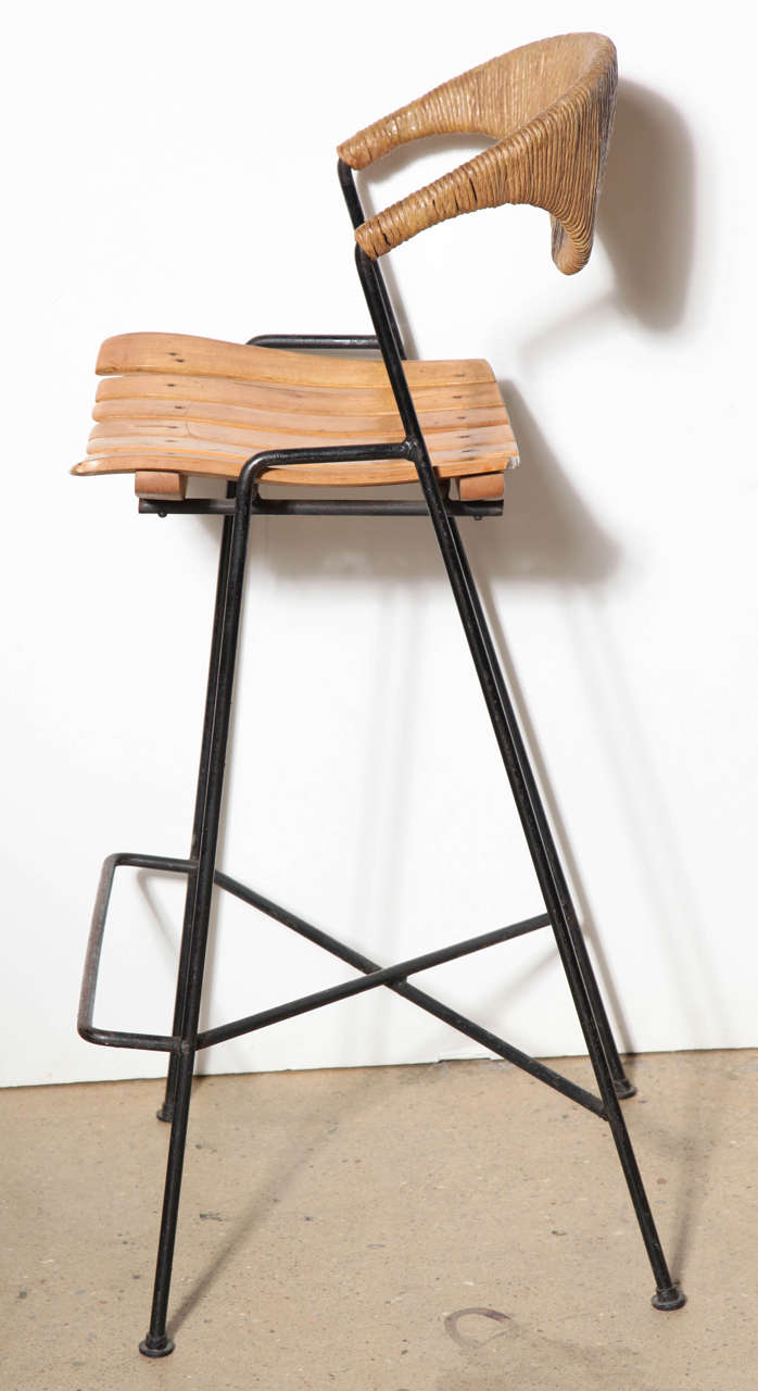 set of 3 arthur umanoff bar stools at 1stdibs. Black Bedroom Furniture Sets. Home Design Ideas