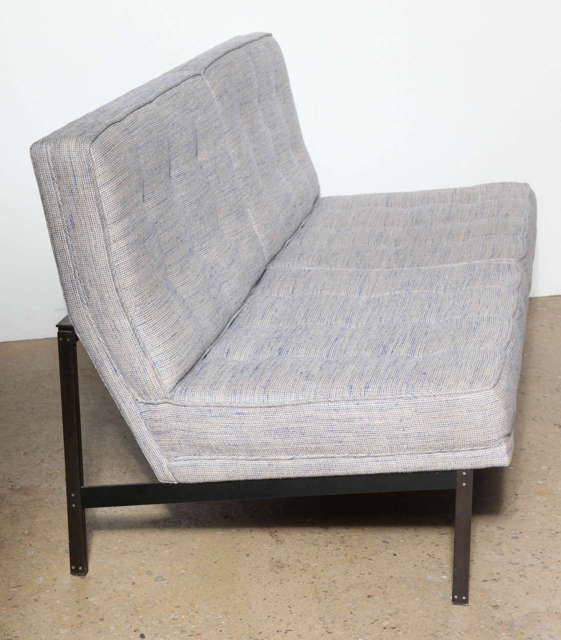 1950s Florence Knoll Parallel Bar Bronze Two Seat Settee For Sale At 1stdibs