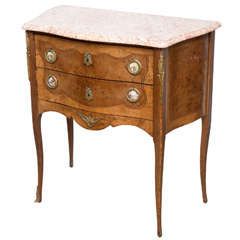 French Commode, Side, End Table with Porcelain Plaques, 20th Century