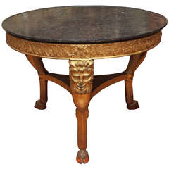 French Charles X Gilt Table De Milieu